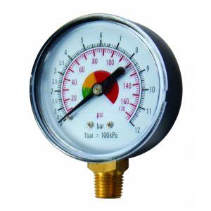 Manometru presiune 0-12 bar, 1/4, Raider, 110602