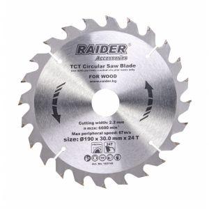 Panza pentru fierastrau circular 190X30x2.4MM 24T, Raider, 163145