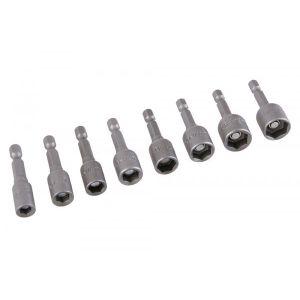 Set capete tubulare magnetice 8 bucati, 5-13MM, Festa, 18618
