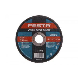 Disc abraziv pentru taierea metalului 125X1X22.2MM, Festa, 22225
