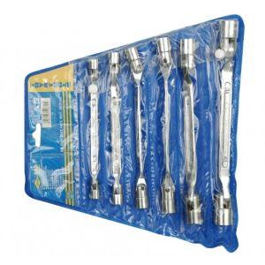 Set 6 chei tubulare cu articulatie, 8-19 mm, Vorel, 52870