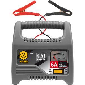 Redresor baterie auto 12V, 6A, 84Ah, Vorel, 82551