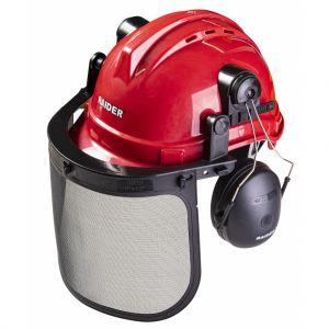 Casca de protectie, viziera cu plasa si protectie urechi, Raider, 561301