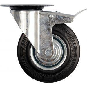 Roata mobila cu opritor 160/40-80mm, Vorel, 87325