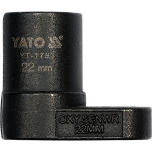 Cheie tubulara pentru sonda lambda, 22MM, Yato YT-1753