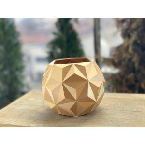 Ghiveci hexagonal auriu 150X118MM, EBN0636
