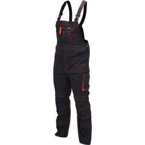 Pantaloni de lucru negri cu piept YATO
