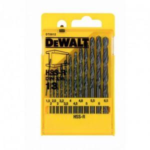 Set burghie pentru metal HSS, 1.5-13mm, 13 bucati, DeWALT, DT5912
