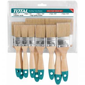 Trusa pensule pentru vopsit, 9 bucati, Total, THT8414091