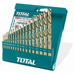 Set burghie pentru metal HSS, 1-10mm, 19 buc, Total, TACSD0195