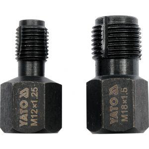 Set dispozitiv de rectificat sonda lambda, 2buc, M12x1.25 si M18x1.5, Yato YT-1756