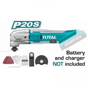 Unealta multifunctionala, fara acumulator si incarcator 20V, Li-Ion, Total, TMLI2001